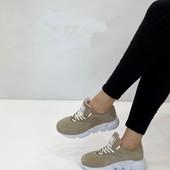 Женские кроссовки из натуральной кожи и замша. Турция.