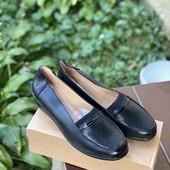 Чёрные женские туфли на широкую ногу