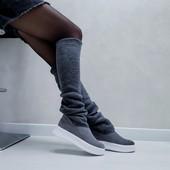 ботиночки женские с довязом
