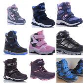Зимние термо ботинки B&G с 25 по 41 размер