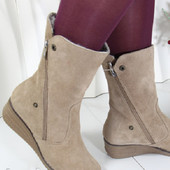 Замшевые ботинки- сапоги цигейка Haspini Турция .Наличие + сбор