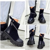 Деми ботинки от украинского производителя. Кожа и замша