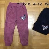 Утепленные спортивные велюровые штаны для девочки