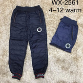Болоневые утеплённые брюки для мальчико 4-12 лет (2562)