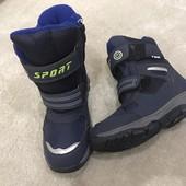 Самая популярная модель мальчикам на зиму Термо Ботинки Размер 32-37