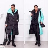 Двухстороннее зимнее пальто! Большие размеры!