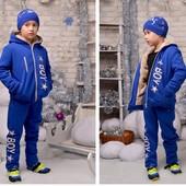 Теплые спортивные костюмы ( мальчик/девочка) р 116-170