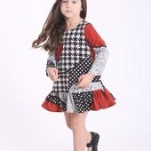 Детские платья-колокольчики с длинным рукавом