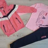 Детские спортивные костюмы тройки для девочек 110-146 Венгрия s&d