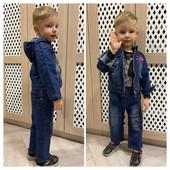 Акция на складе Детские джинсовые костюмы 92,98,104р