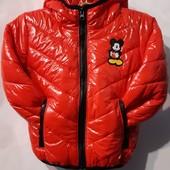Куртка красная с Микки для мальчика весна-осень