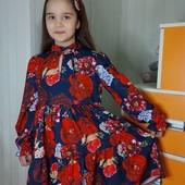Яркие качественные платья девочке с солохой