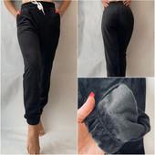 Залишки 44р., 48р., сірі, бузок, чорні. Теплі штани, легінси з екошкіри на мєху