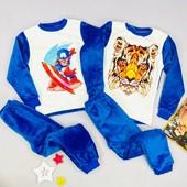 Махровые пижамки для деток, быстрый сбор, остатки